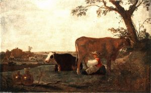 Aelbert Jacobsz Cuyp - The Dairy Maid