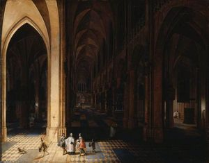 Peeter The Elder Neeffs - El interior of Antwerp Catedra..