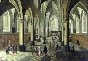 Peeter Neeffs The Younger - interior de una catedral