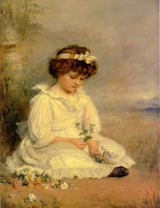 John Everett Millais - Querido azul Little Speedwell