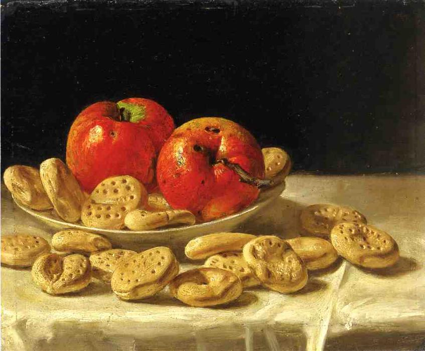 Mackinaws y Galletas, oleo en panel de John F Francis (1905-1990, United States)