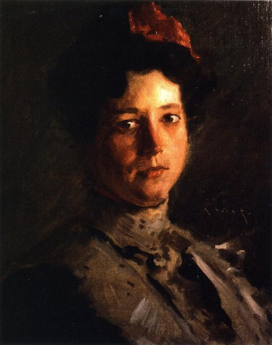 Martha Walter, óleo sobre lienzo de William Merritt Chase (1849-1916, United States)