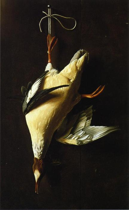 Pollo de agua, óleo sobre lienzo de William Michael Harnett (1848-1892, Ireland)