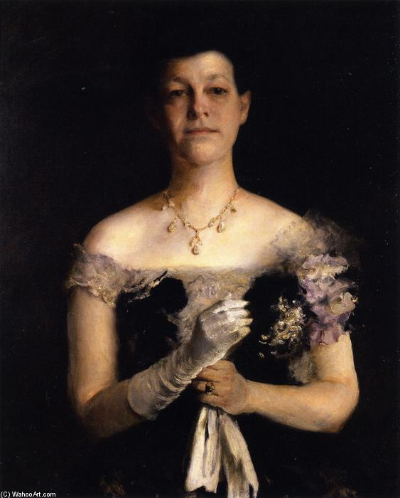 Mrs. Richard Y Cocine, óleo sobre lienzo de William Merritt Chase (1849-1916, United States)