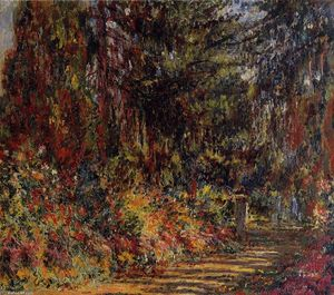 Claude Monet - el camino en Giverny