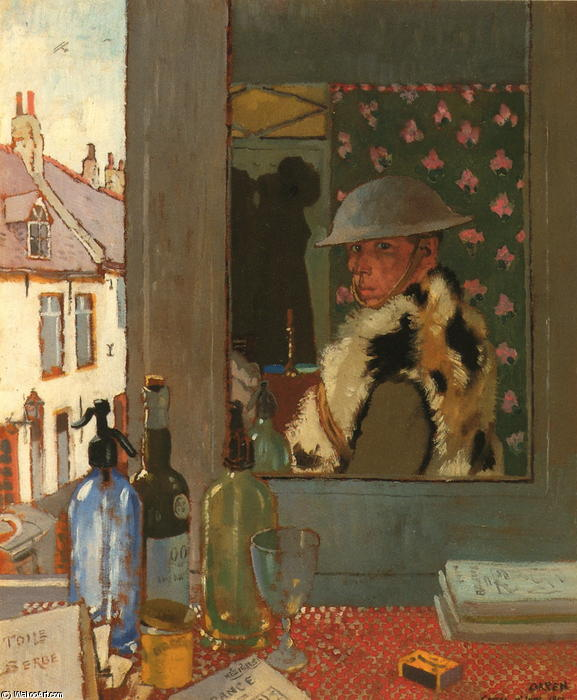 Listo para empezar, 1917 de William Newenham Montague Orpen (1878-1931, Ireland)