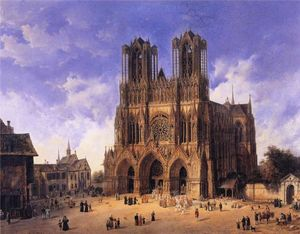 Domenico Quaglio - Reims Catedral