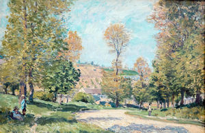 Alfred Sisley - camino a Louveciennes