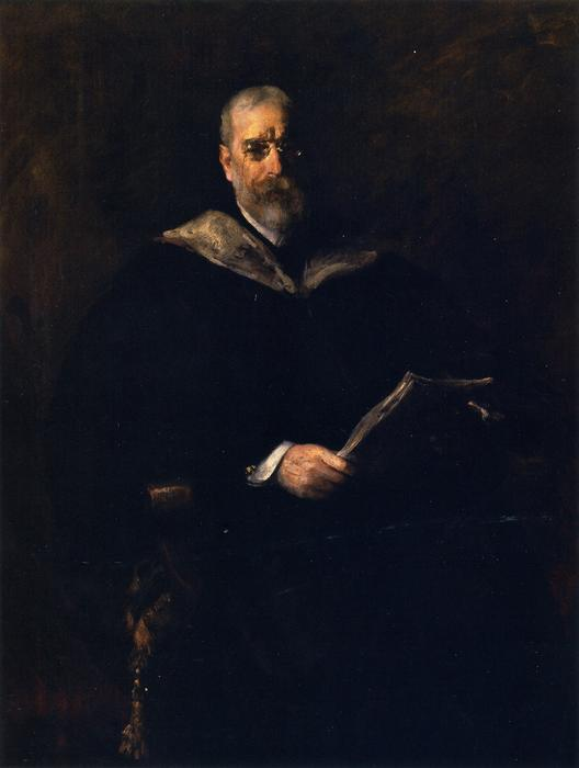 Robert Underwood Johnson, óleo sobre lienzo de William Merritt Chase (1849-1916, United States)