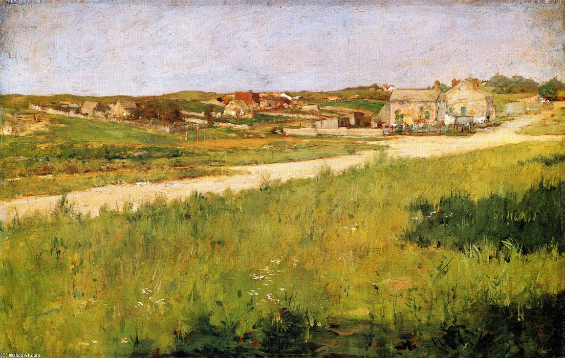 Shinnecock colinas Paisaje, Óleo sobre tabla de William Merritt Chase (1849-1916, United States)