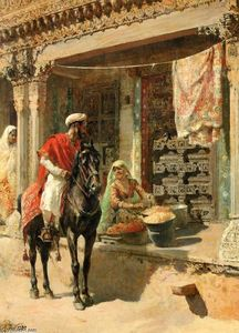 Edwin Lord Weeks - Vendedor ambulante, Ahmed..