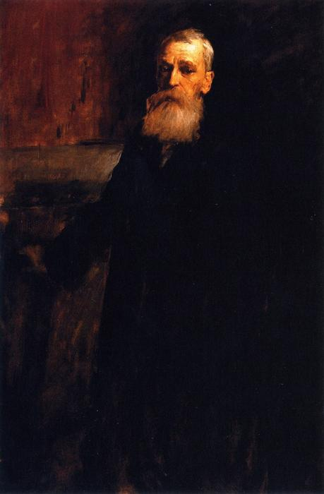 Thomas Moran, NA, óleo sobre lienzo de William Merritt Chase (1849-1916, United States)