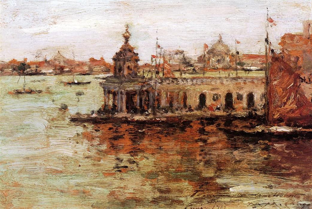 Venecia : Vista de la Armada Arsenal, 1913 de William Merritt Chase (1849-1916, United States) | ArtsDot.com