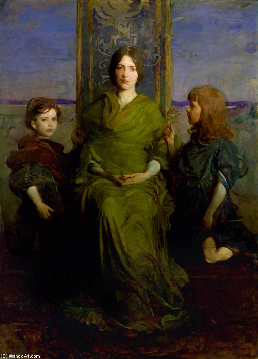 Virgen Enthroned, 1891 de Abbott Handerson Thayer (1849-1921, United States)