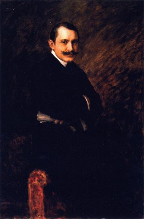 William Clyde Fitch, óleo sobre lienzo de William Merritt Chase (1849-1916, United States)