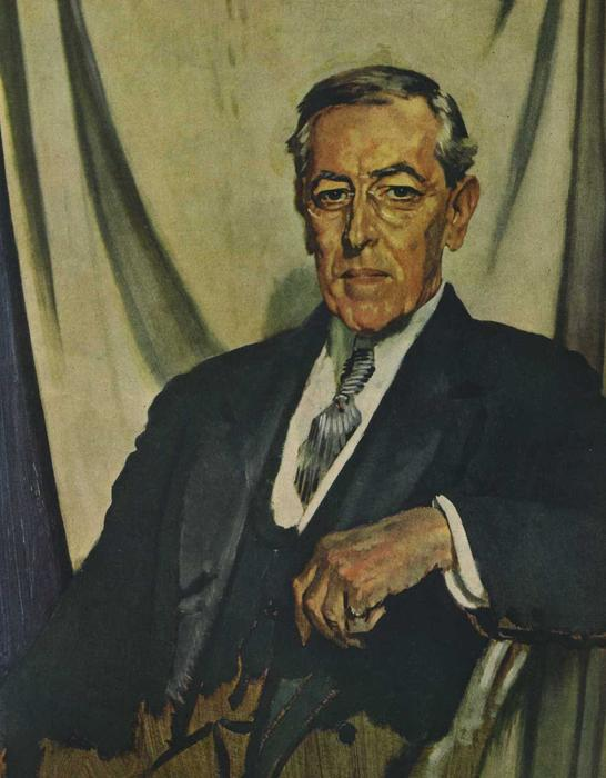 Woodrow Wilson, 1917 de William Newenham Montague Orpen (1878-1931, Ireland)