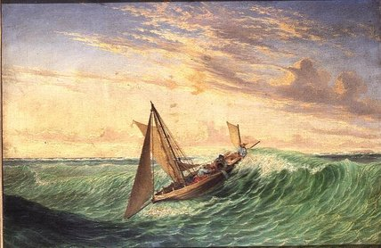 Long Boat del Mensajero de Thomas Baines (1820-1875, United Kingdom)