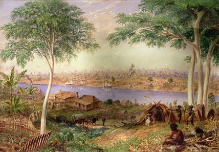 South Brisbane De La costa norte de Thomas Baines (1820-1875, United Kingdom)