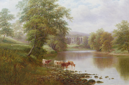 Bolton Abbey - de William Mellor (1851-1931, United Kingdom)