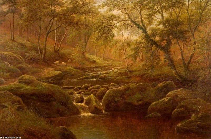 Roble Beck, Harrogate de William Mellor (1851-1931, United Kingdom)