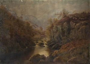 William Mellor - en el Lledr , norte wales