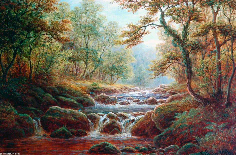Posforth Ghyll, Bolton Madera de William Mellor (1851-1931, United Kingdom) | ArtsDot.com