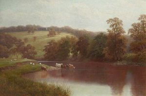 William Mellor - El Wharfe, Cerca de Ilkley