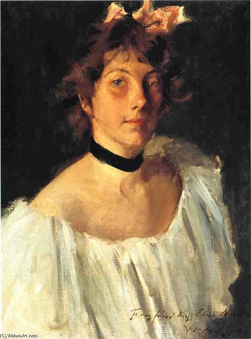 Señorita Edith Newbold de William Merritt Chase (1849-1916, United States)