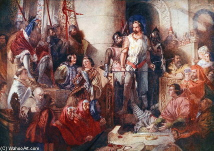El juicio de Sir William Wallace en Westminster de Daniel Maclise (1806-1870, Ireland) | ArtsDot.com