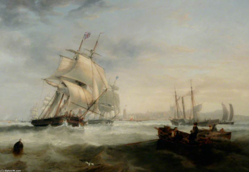 Envío Off Hartlepool, Tees Valley de John Wilson Carmichael (1800-1868, United Kingdom) | ArtsDot.com