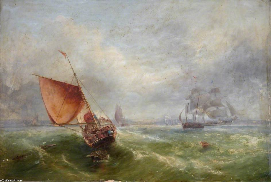 Envío Off Maryport de John Wilson Carmichael (1800-1868, United Kingdom)