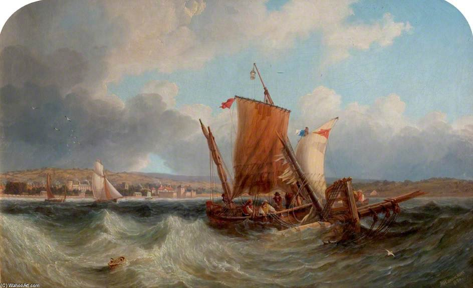 Envío Off North Yarmouth de John Wilson Carmichael (1800-1868, United Kingdom)