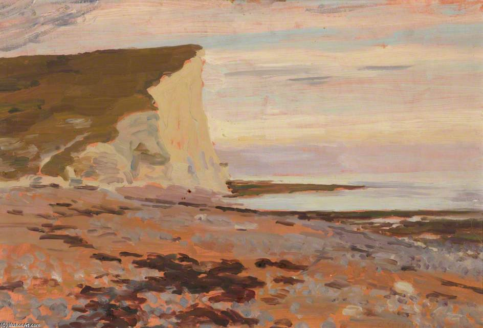 Cuckmere Refugio , 'the Blanco Cliffs' de Duncan Grant (1885-1978, Scotland)