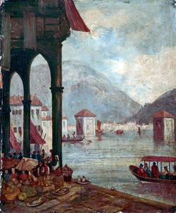 William Leighton Leitch - el lago de Como Italia