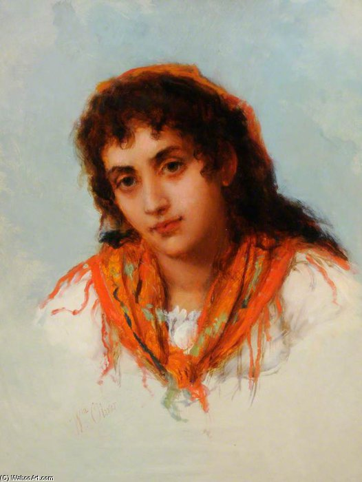 El Gipsy de William Oliver (1805-1853, United Kingdom) | ArtsDot.com