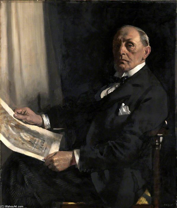 Sir Walter Tapper de William Newenham Montague Orpen (1878-1931, Ireland) | Reproducciones De Calidad Del Museo | ArtsDot.com