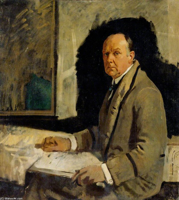 estudio para una retrato de leonard stokes de William Newenham Montague Orpen (1878-1931, Ireland)