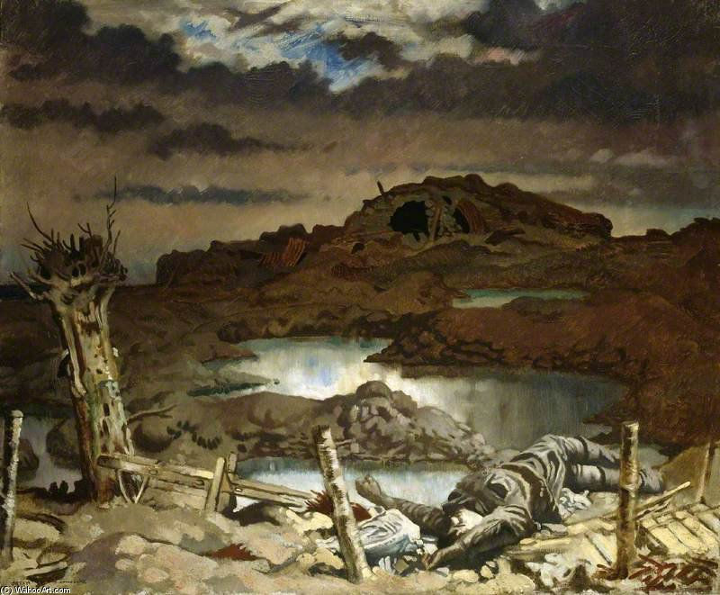 Zonnebeke de William Newenham Montague Orpen (1878-1931, Ireland)