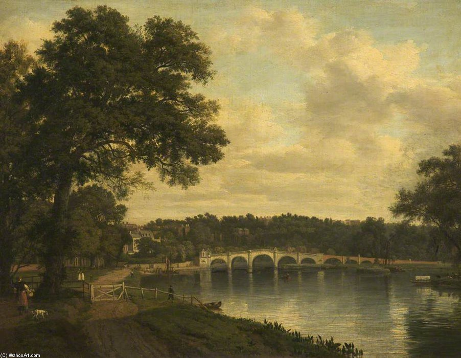 Richmond sobre Thames Mañana de Patrick Nasmyth (1787-1831, United Kingdom)