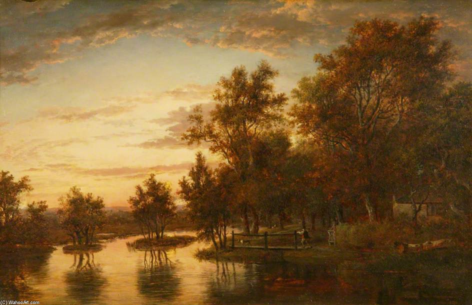 Sonning On The Thames de Patrick Nasmyth (1787-1831, United Kingdom)