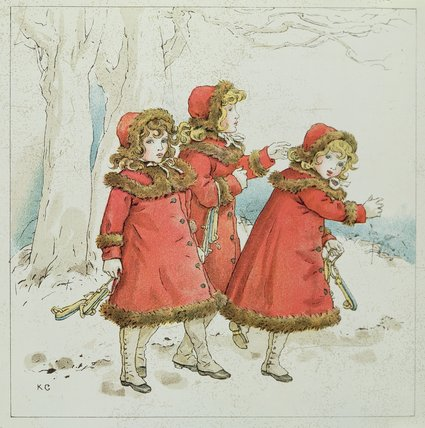 'winter' a partir de abril Baby's libro de Melodías de Kate Greenaway (1846-1901, United Kingdom)
