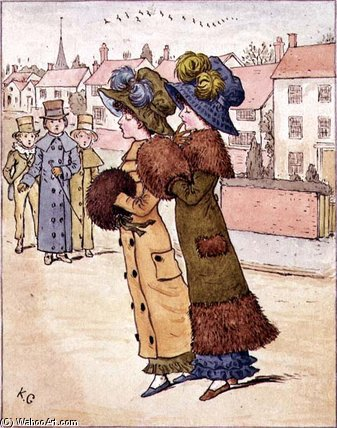 `out` para una caminata de Kate Greenaway (1846-1901, United Kingdom)