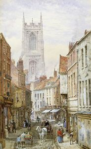 Louise Rayner - Una vista de Irongate, Derby