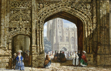 Canterbury Catedral de Louise Rayner (1832-1924, United Kingdom)