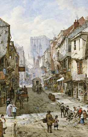 Foss Gate, York de Louise Rayner (1832-1924, United Kingdom)
