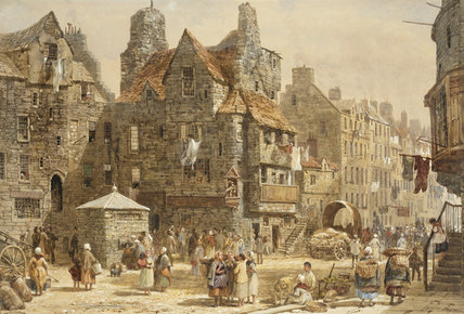 Casa de John Knox, Edimburgo de Louise Rayner (1832-1924, United Kingdom)