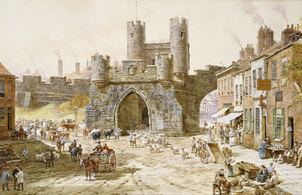 Walgate Bar, York de Louise Rayner (1832-1924, United Kingdom)