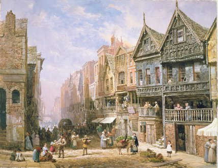 Calle de Watergate de Louise Rayner (1832-1924, United Kingdom)