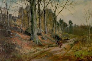 Henry Hadfield Cubley - The Clearing Madera En Matlock..