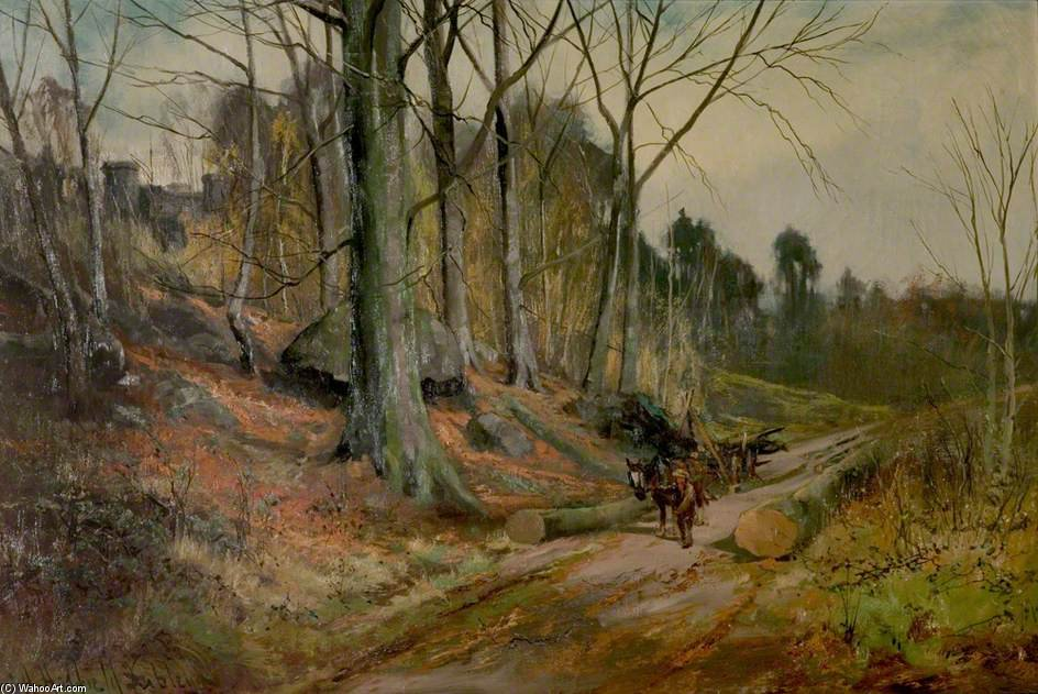 The Clearing Madera En Matlock, Derbyshire de Henry Hadfield Cubley (1858-1934, United Kingdom)